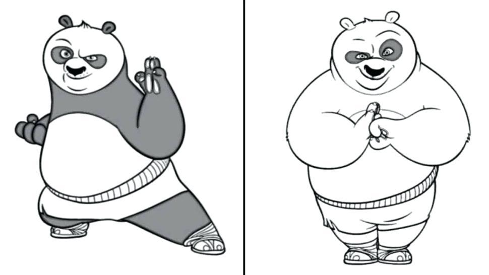 970x546 Kung Fu Panda Coloring Pages Coloring Panda Drawing Coloring Pages