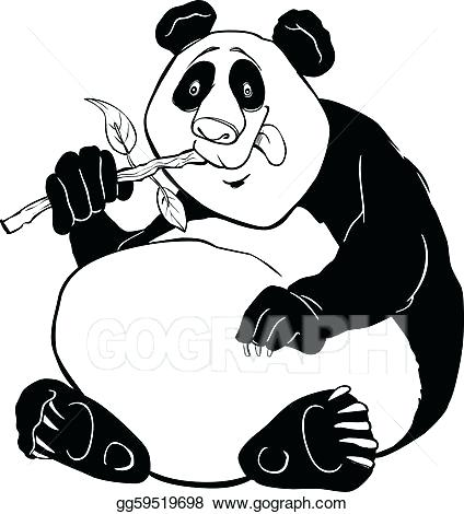 424x470 Panda Bear Coloring Page Vector Art Cartoon Illustration Of Funny