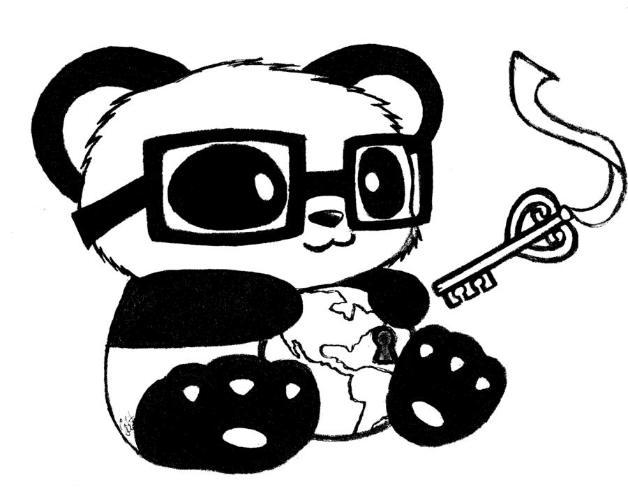 900x720 Panda Mascot Computerized By Generalmisconception