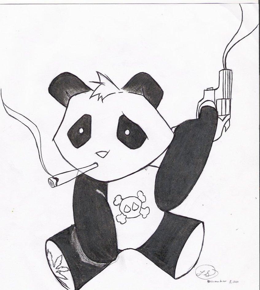847x944 Gangsta Panda By Scarletoct1209
