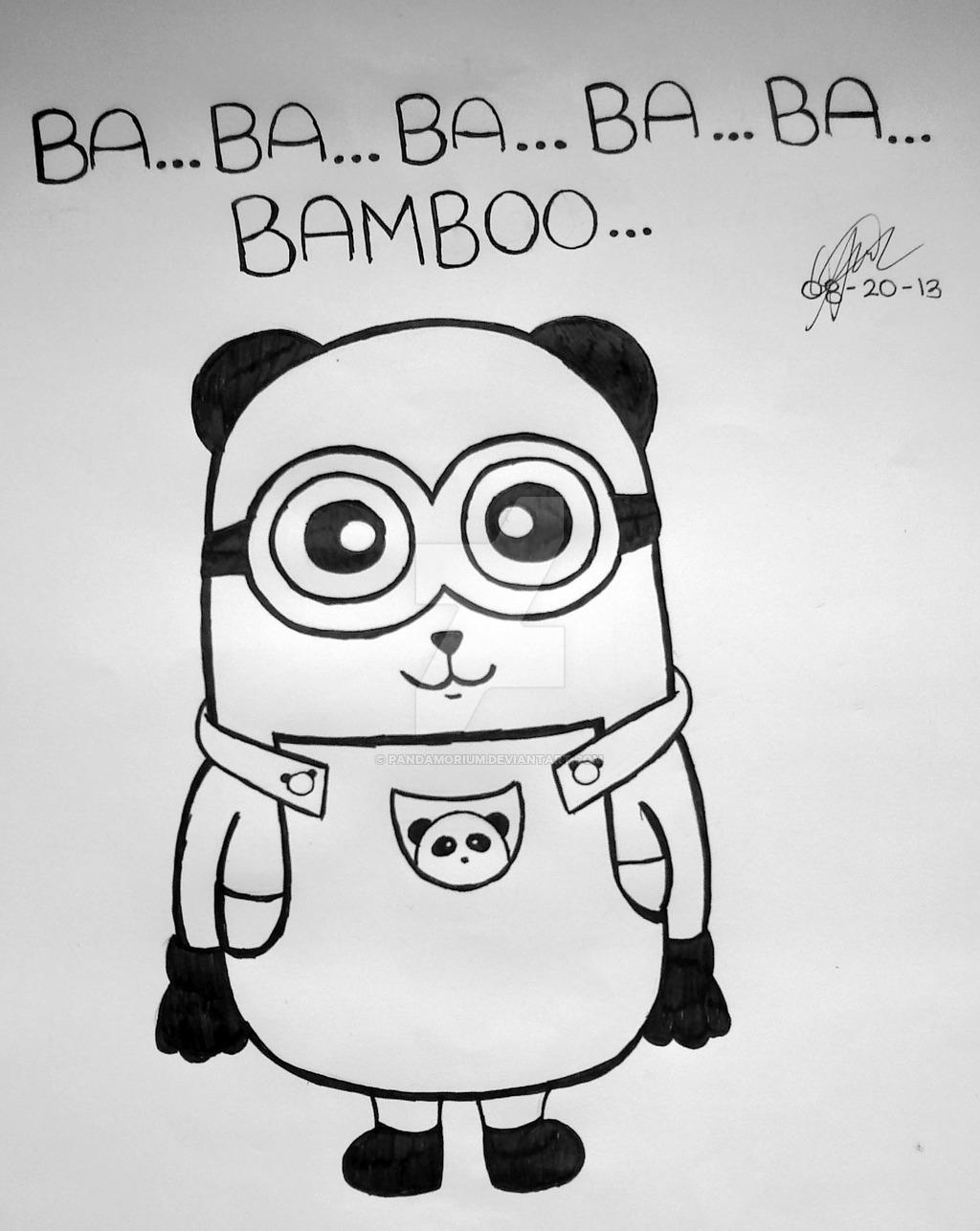 1024x1286 Panda Minion By Pandamorium