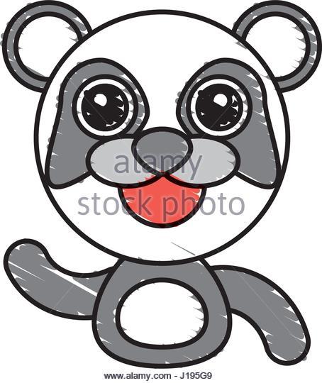 454x540 Cute Draw Panda Bear Face Stock Photos Amp Cute Draw Panda Bear Face