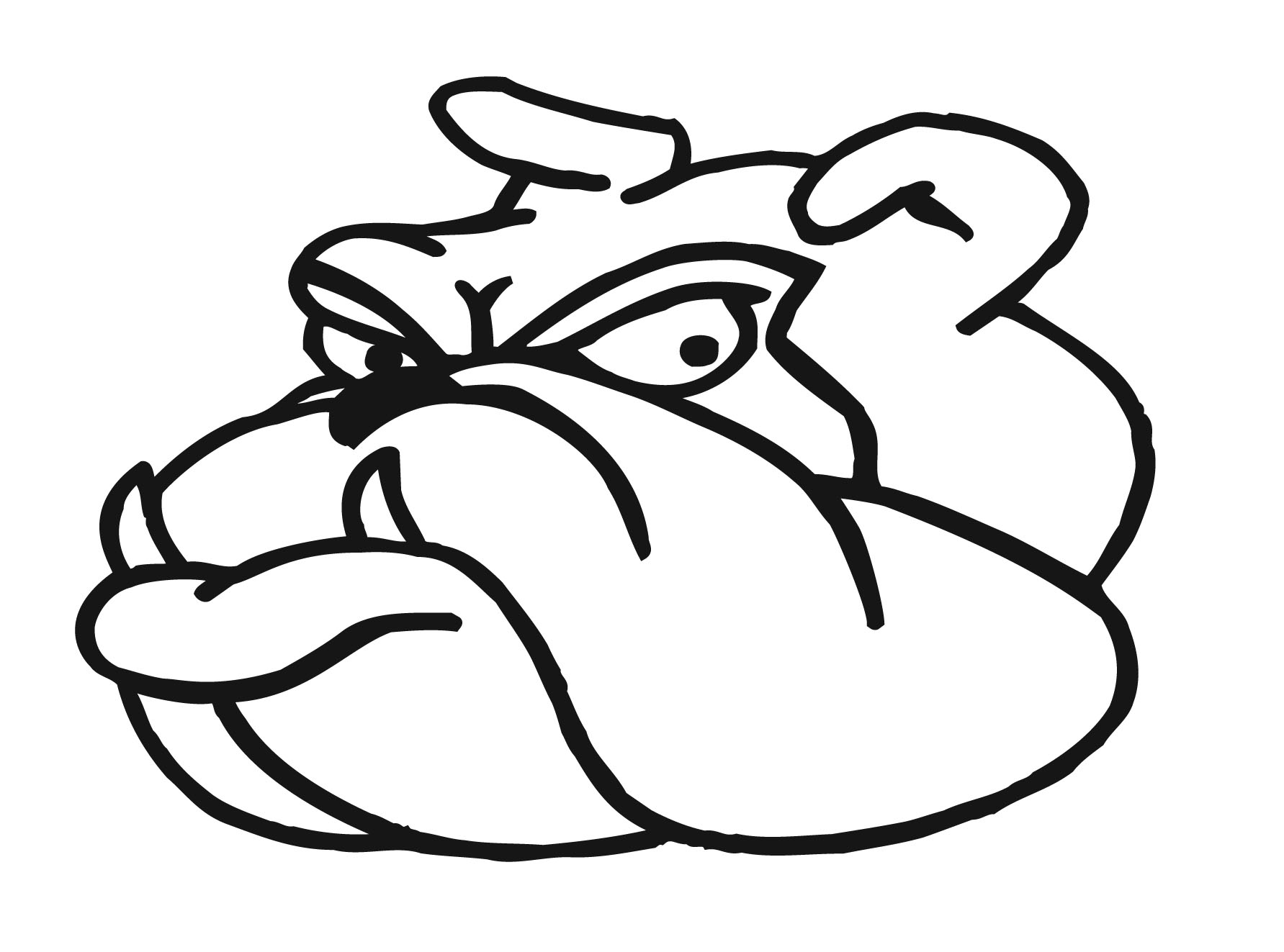 1783x1323 Drawing Of A Bulldog How To Draw French Bulldog Easy