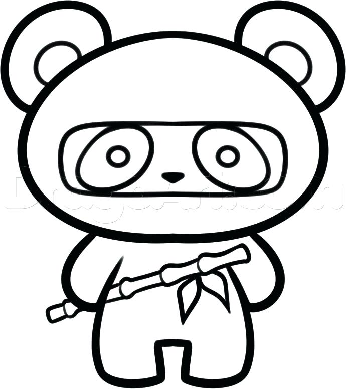 690x776 Coloring Pictures Pandas Panda Coloring Pages Medium Size