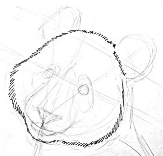 333x319 How To Draw Panda Head And Face