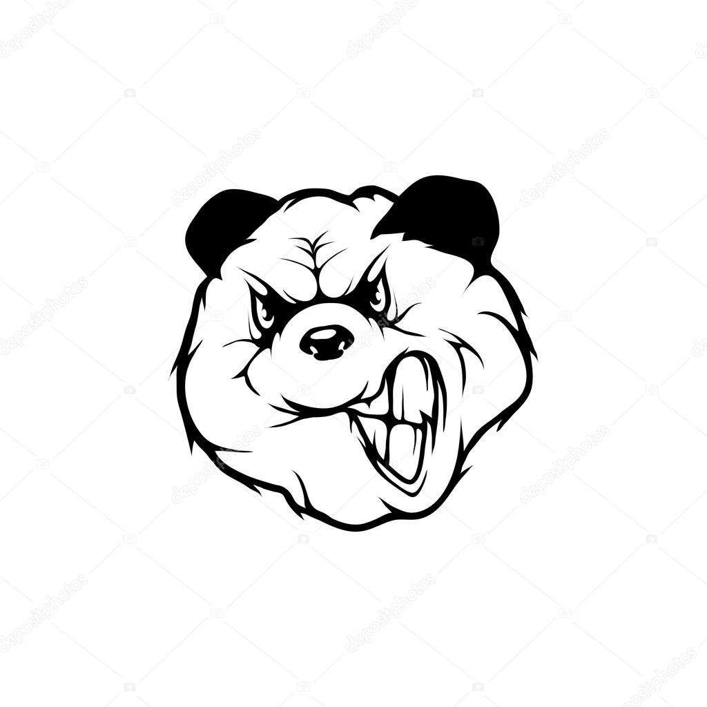 1024x1024 Panda Logo Template Stock Vector