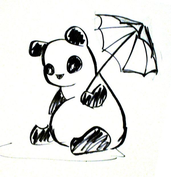 600x620 Panda Sketch By Virgogrl