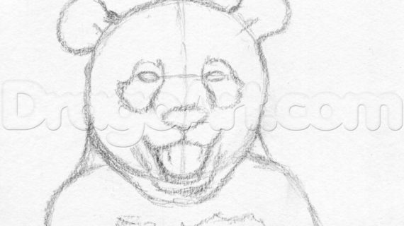 570x320 Pencil Drawings Of Pandas How To Draw A Happy Panda Step Step