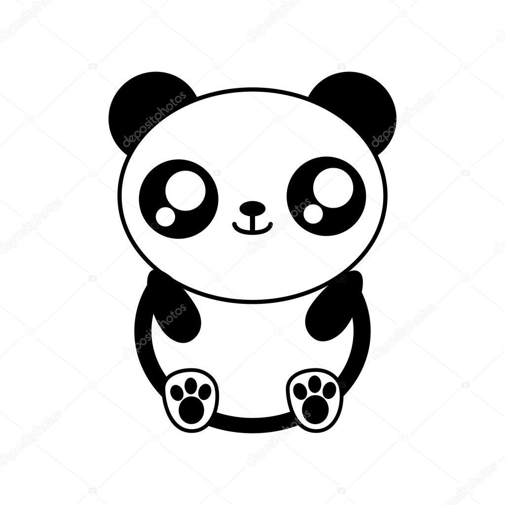 Coloriage Kawaii Panda