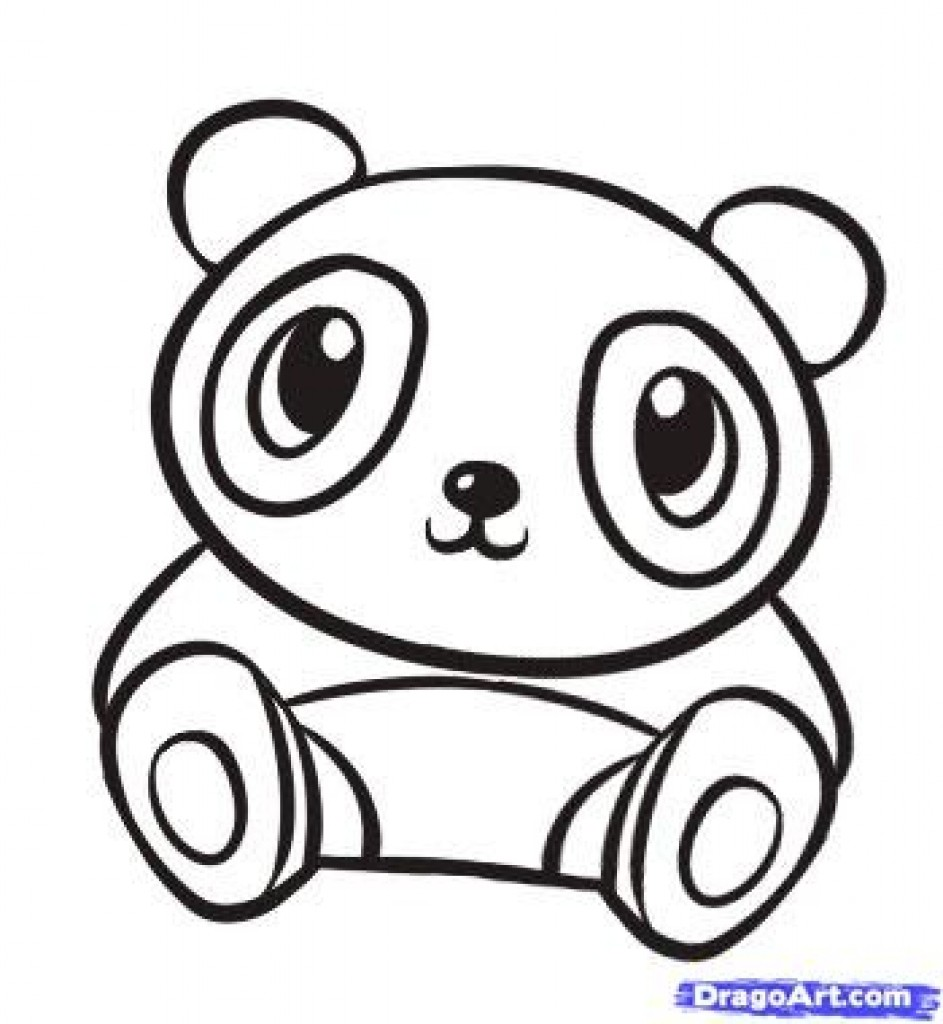 943x1024 Cute Panda Coloring Pages To Copy