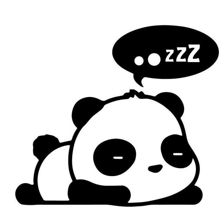736x736 Drawn Panda Sleepy Panda