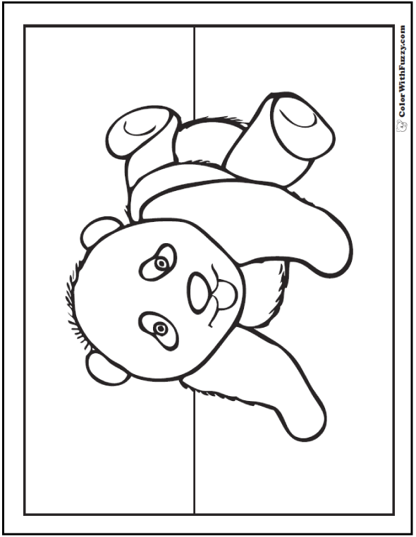 590x762 Panda Coloring Pages Bamboo And Baby Pandas