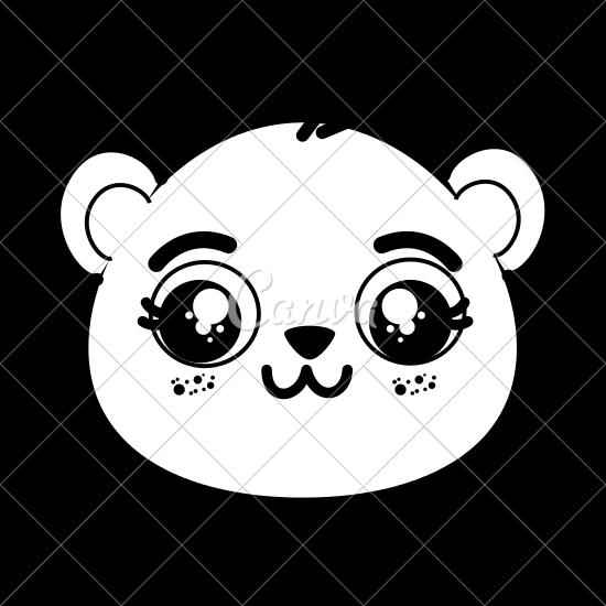 550x550 Cute Panda Bear Face