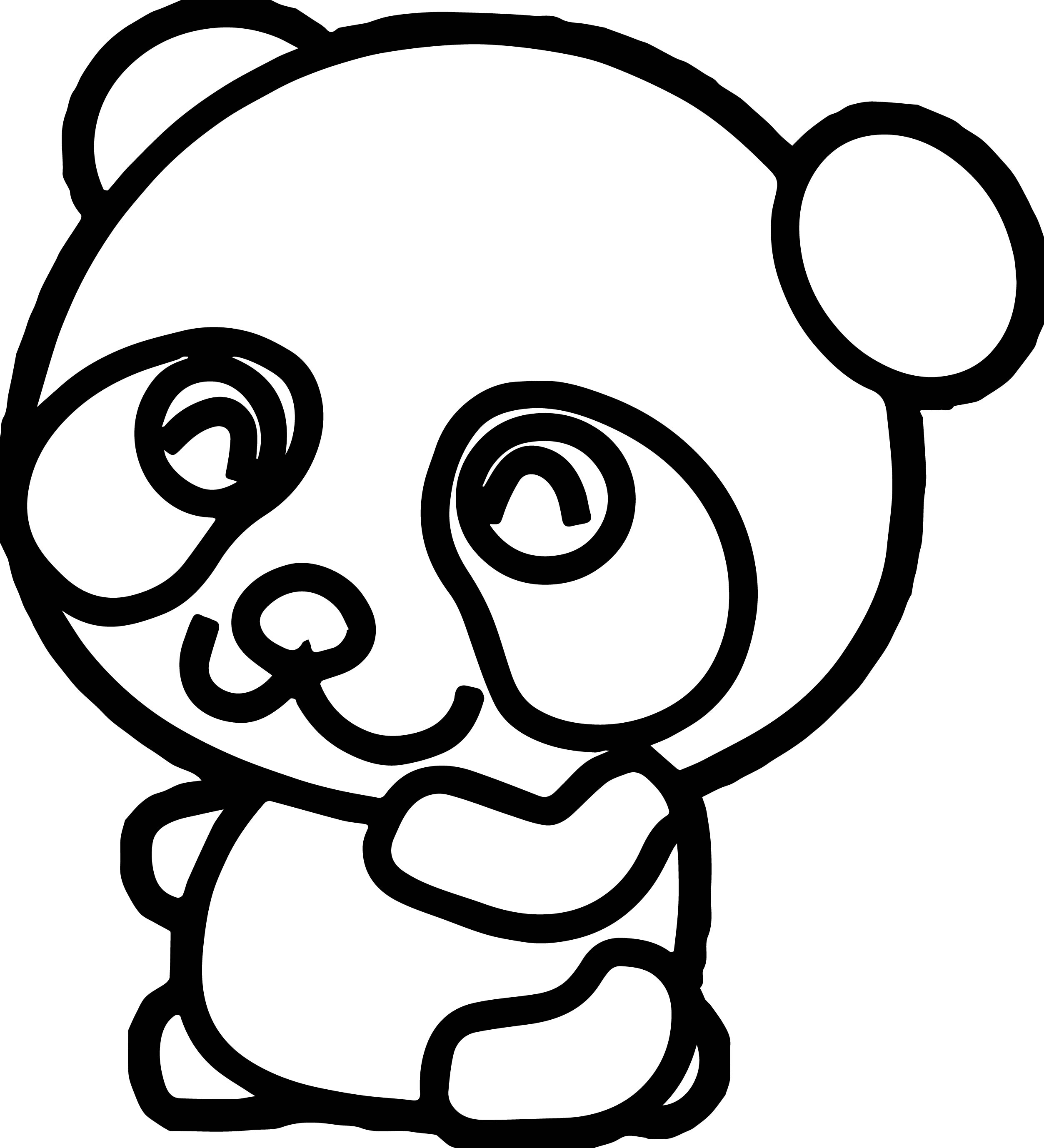 2506x2756 Panda Face Coloring Pages