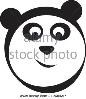 300x345 Panda Logo Vector Stock Vector Art Amp Illustration, Vector Image
