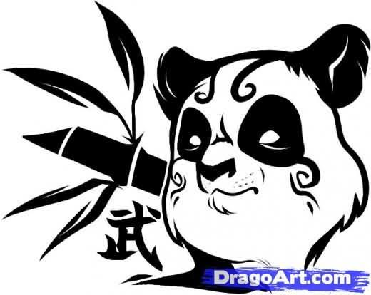 520x414 Panda Tribal Face Tattoo Ideas Tribal Face, Panda