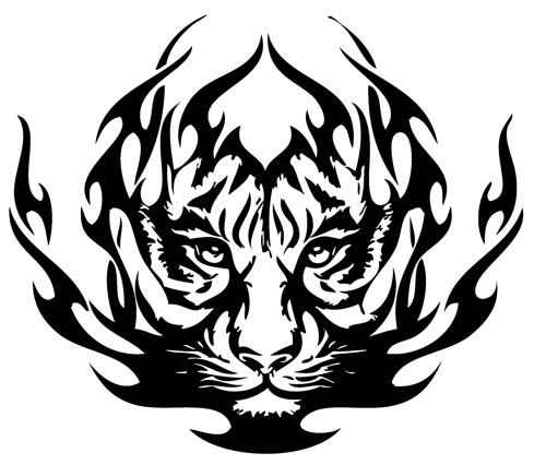 500x426 Tribal Panda Tattoo Group