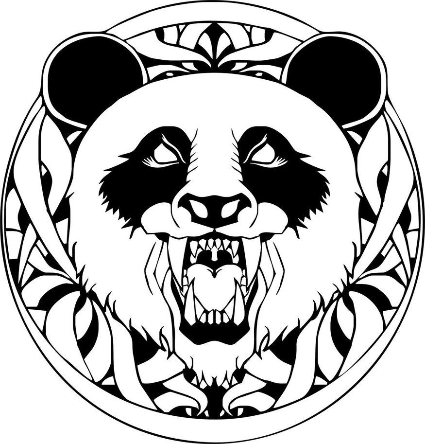875x913 Panda Face Doodle By Javanesia