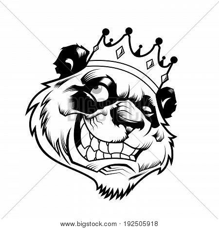 450x470 Panda Head Vector Wear Crown Vector Amp Photo Bigstock