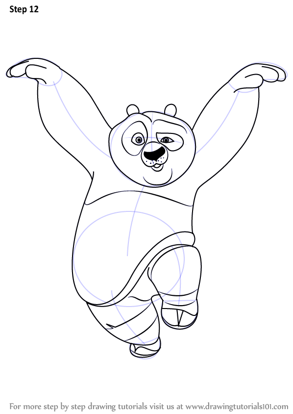 598x844 Learn How To Draw Po Giant Panda From Kung Fu Panda (Kung Fu Panda