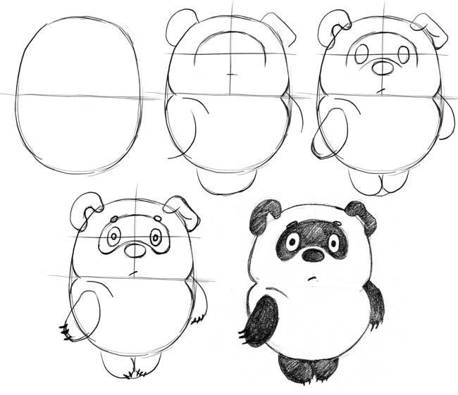 650x561 Pin By Maria On How To Draw. Panda Drawing