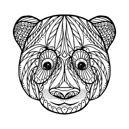 450x450 Skull Head Of Ram, For Adult Anti Stress Coloring Page With High