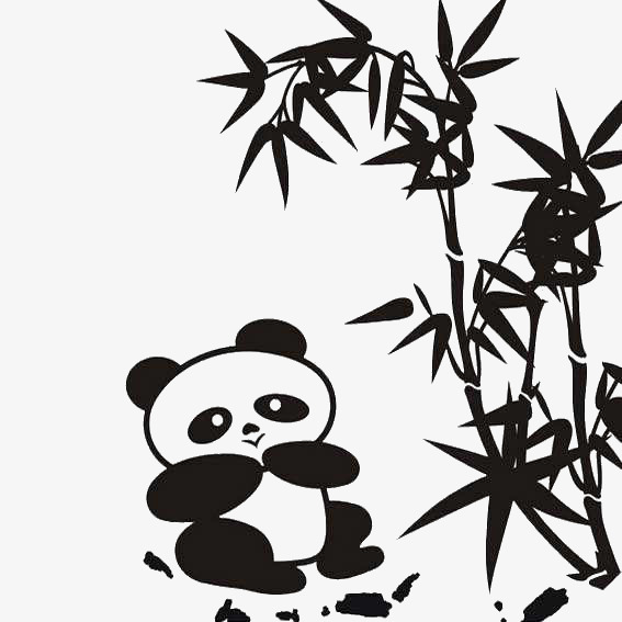 567x567 Eat Bamboo Panda, Bamboo, Panda, Black Png Image For Free Download