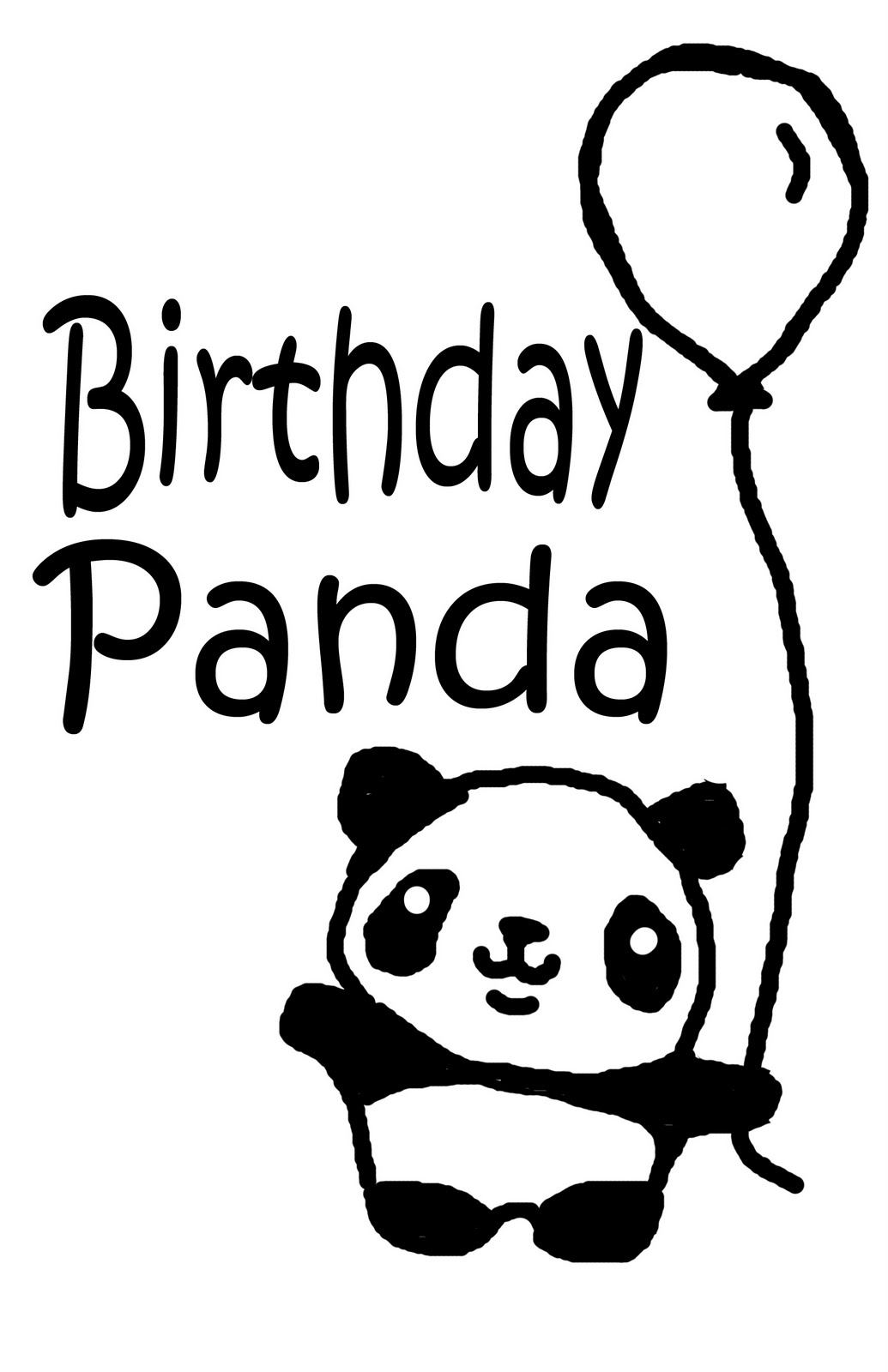 1035x1600 Birthday Panda Drawing