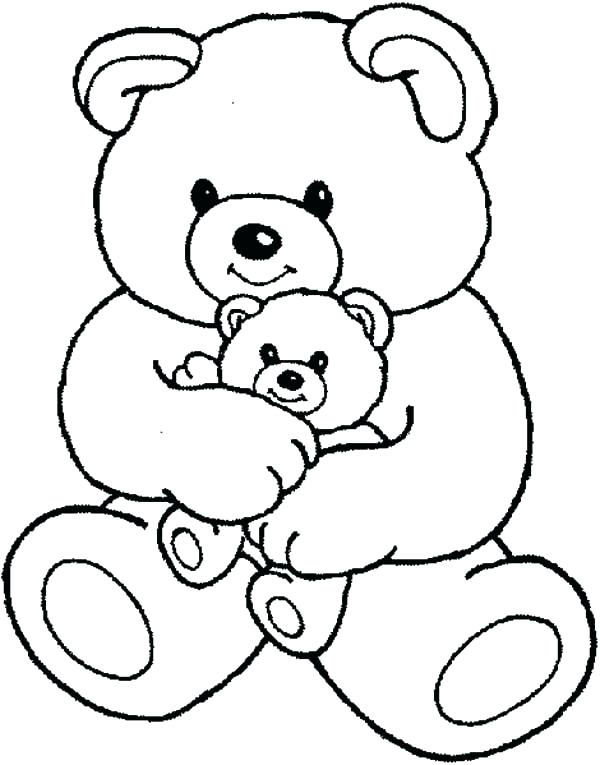 600x765 Good Teddy Bear Coloring Pages New Page Drawn Polar 5 Panda