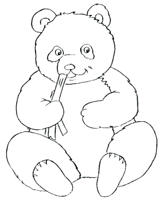 564x690 Panda Coloring Pages