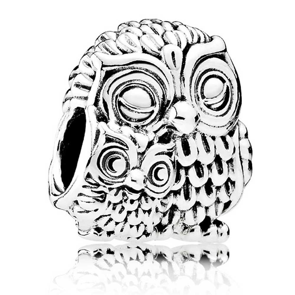 1000x1000 Pandora Silver Charming Owls Charm 791966 The Jewel Hut