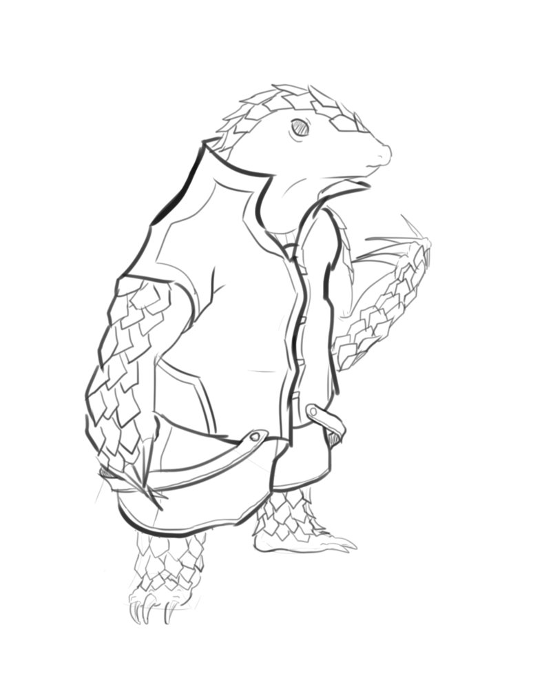 803x994 Pangolin (Lines) By Calisto789well