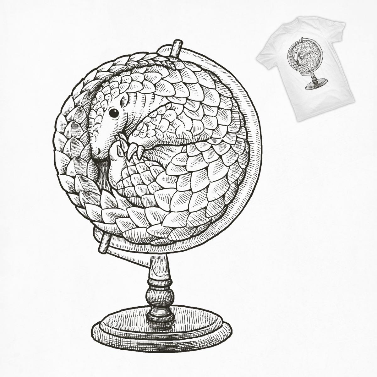 1200x1200 Score Pangolin Globe By Ben Chen On Threadless