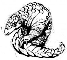 236x209 Day 324 Pangolin! For @makhulu And @sydellewillowsmith 28 X
