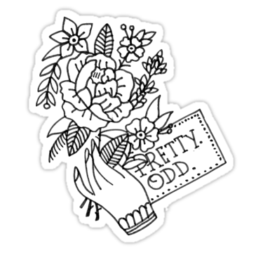 375x360 Pretty. Odd. Flowers Stickers By Jacksonoli Redbubble