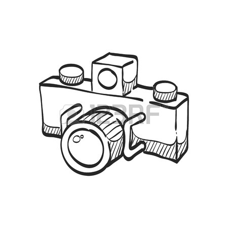 450x450 Panorama Camera Icon In Doodle Sketch Lines. Landscape Nature