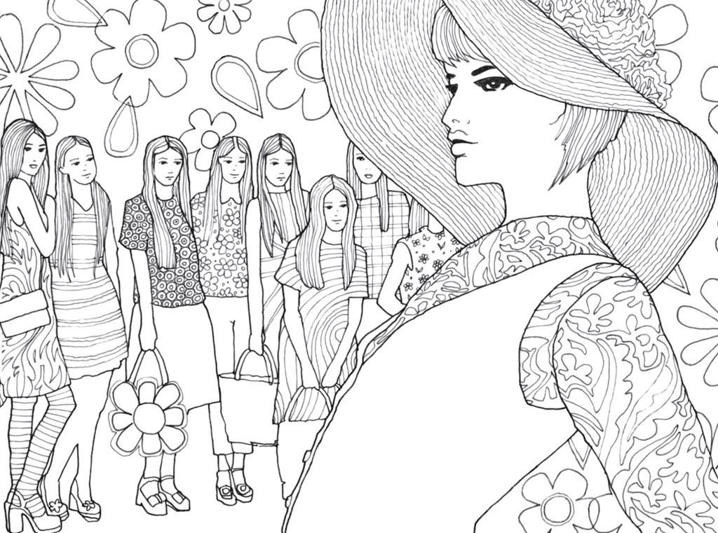 1024x761 Pocket Posh Panorama Adult Coloring Book Fashion Unfurled