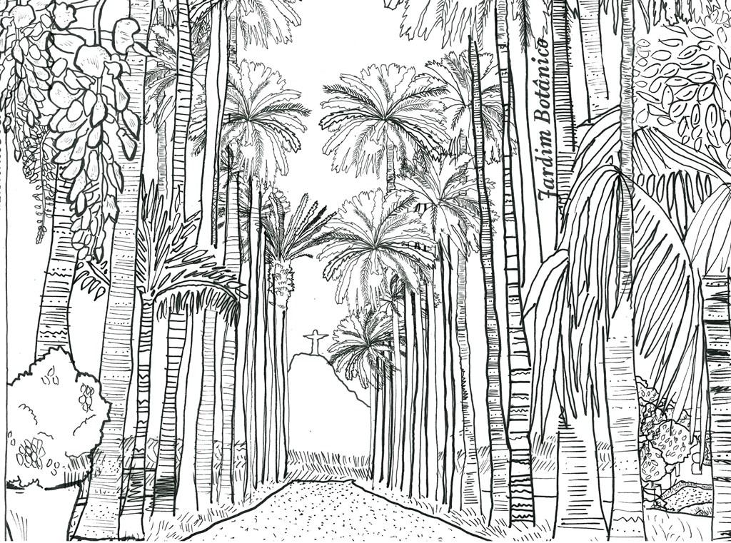 1024x761 Pocket Posh Panorama Adult Coloring Book Gardens Unfurled