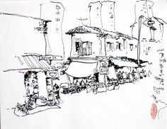 236x182 Lisbon Panorama Left Sketchbooks, Sketches And Art Sketches