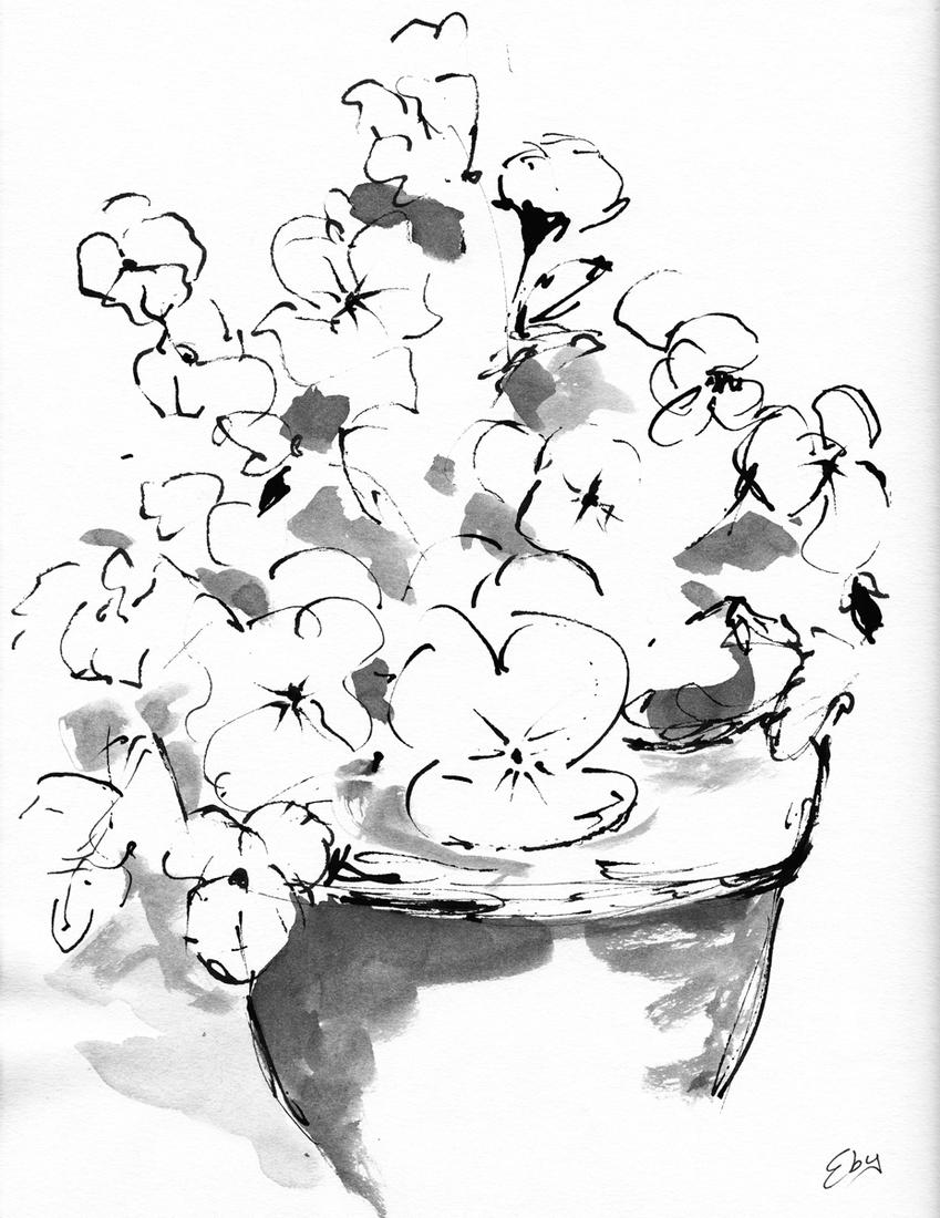 849x1100 Lois Eby Ink, Flowers Amp Still Life Flowers Amp Still Life