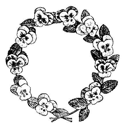 437x446 Digital Stamp Design Free Floral Wreath Digital Stamp Vintage