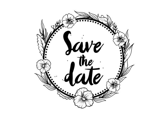 700x490 Free Save The Date Pansy Flower Vector