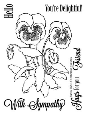 298x400 Pansy Stamp Set Clear Stamps Technique Tuesday