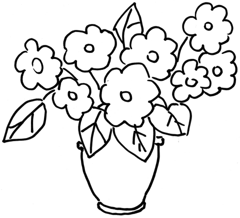 480x437 Pansy Violets Flower Coloring Page Free Printable Coloring Pages
