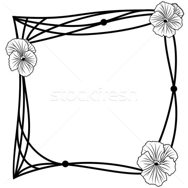 600x600 Pansy Frame Vector Illustration Tanais ( 4846105) Stockfresh