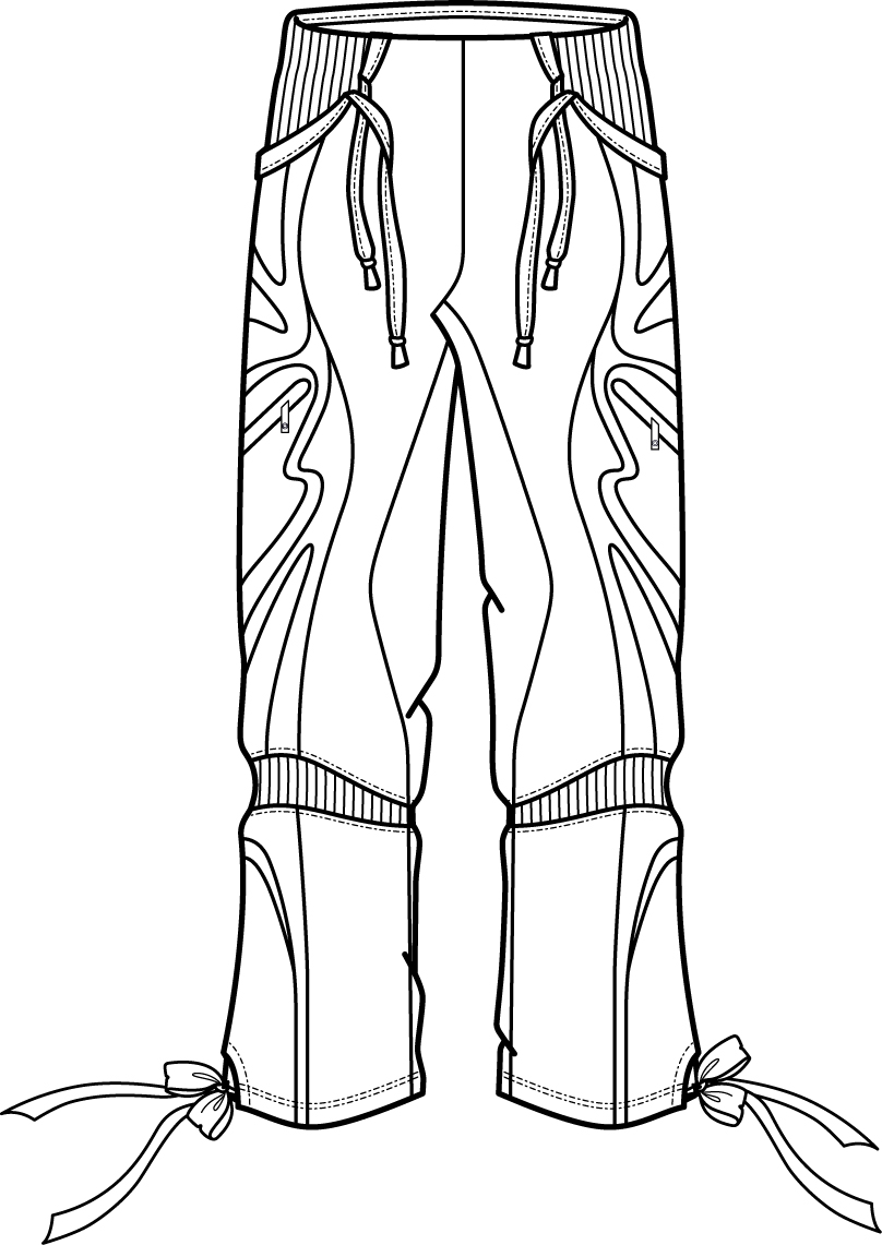 808x1141 Flat Fashion Sketch Pant Flat Fashion Sketch