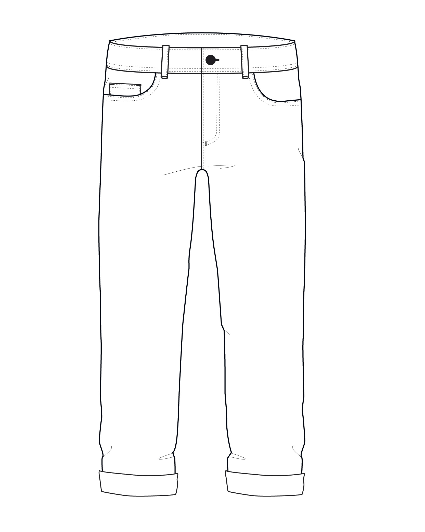1667x2083 M 90's Slouch Pant