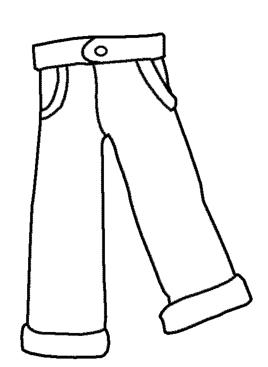 Pant drawing at free for personal use for Kids clothes coloring pages