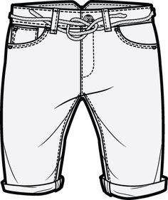 236x281 Denim Shorts Teknik.cizimler Shorts, Sketches