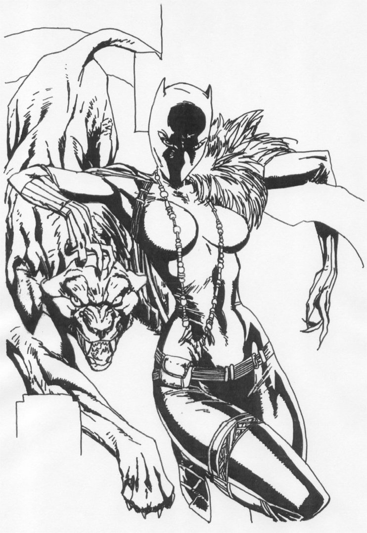742x1077 Female Black Panther By Stonegate